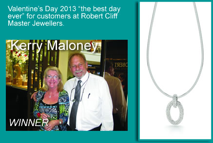 "Valentine's Day 2013 ""the best day ever"" for customers at Robert Cliff Master Jewellers"