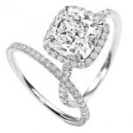 cushion cut diamod ring