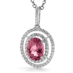 Tourmaline Diamond Pendant-330433